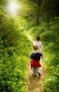 camino y niños